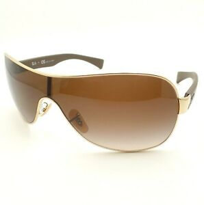 731dd4047f Ray Ban RB 3471 001 13 Gold Brown Gradient New Authentic Sunglasses ...