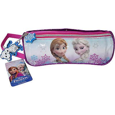 Disney Frozen Anna Elsa Girls School Colouring Pen Pencil Case Kids Makeup Bag