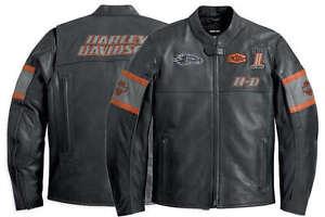 HARLEY-DAVIDSON-Hombre-Incinerador-Chaqueta-de-cuero-SCREAMIN-EAGLE-L-Alto