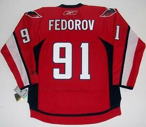 online store 352af f26b5 Details about SERGEI FEDOROV WASHINGTON CAPITALS REEBOK NHL PREMIER HOME  JERSEY NEW WITH TAGS