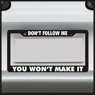 Follow me I/'ll pull you out 4x4 off road four wheel license plate frame holder