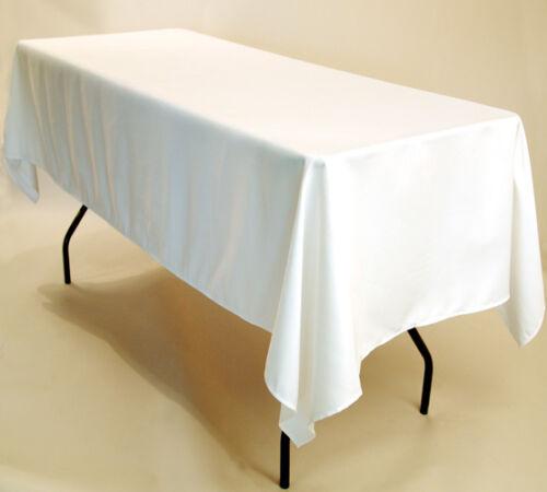 """environ 1.83 m Chevalet de table nappes Exposition 1x 90/""""x132/"""" Pouces Blanc Rectangulaire 6 ft"""