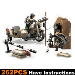 Call-of-Duty-Military-Motorcycle-Soldiers-Fit-WW2-Mega-Construx-Lego-MiniFigures