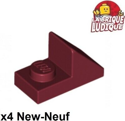 Lego 4x slope pente incliné 45 2x1 2//3 cutout rouge//red 92946 NEUF