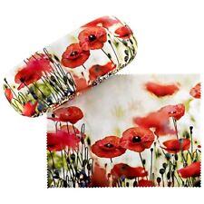 Brillenetui Hardcase Box Kunst Motiv Floral Damen Mohnblumen 7517