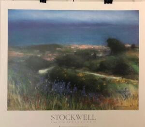 Fine-Art-Lithograph-John-Stockwell-La-Route-Des-Cretes-26-X-30