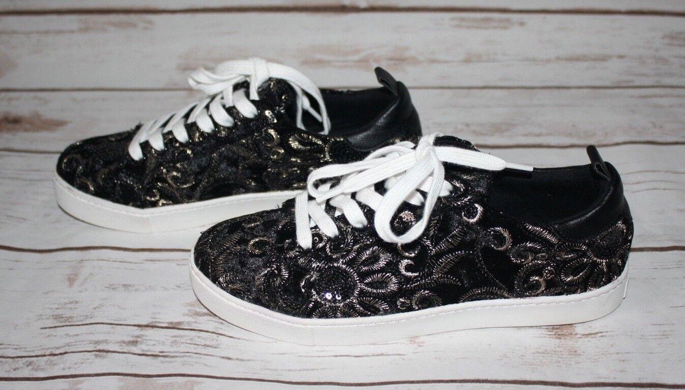 ALDO Velvet Embroidered Sneakers (Size US 6)