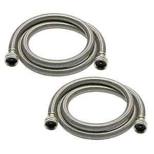fluidmaster 9wm60p2 washing machine hose braided stainless steel 2 pack ebay. Black Bedroom Furniture Sets. Home Design Ideas