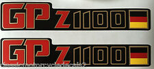 KAWASAKI GPZ1100 GPZ1100A GPZ1100UT UNI-TRACK  SIDE PANEL DECALS GERMAN FLAG