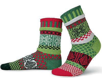 MISTLETOE CHRISTMAS LADIES ODDSOCKS COTTON ODD SOCKS 100/% RECYCLED SOLMATE