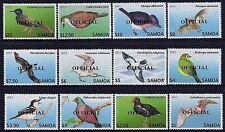 2014 SAMOA THREATENED BIRDS OFFICIAL OVERPRINT SET OF 12 FINE MINT MNH/MUH
