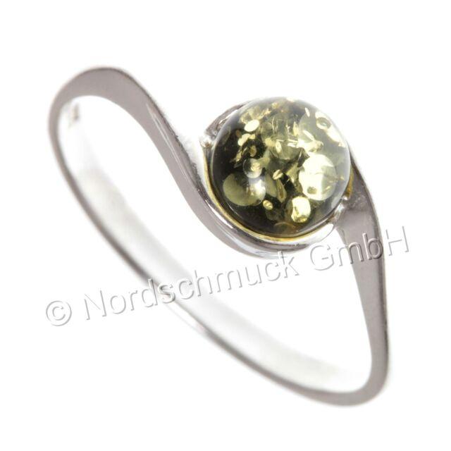 Bernstein Ring Bernsteinring Amber 925er Silber kleine große Größen 48-64 K278