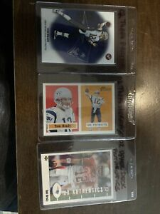 2002-TOM-BRADY-LOT-OF-3-TOPPS-PRISTINE-HERITAGE-AND-UPPER-DECK-AUTHENTICS