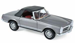 MB Mercedes Benz 230 SL - 1963 - Anthazitmetallic - Norev 1:18
