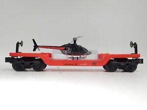 Lionel-O-Gauge-Dale-Earnhardt-Jr-Flat-Car-w-Helicopter-From-Set-7-11005-C-TOT1