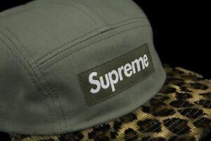0bec6e82 SUPREME SAFARI LEOPARD CAMP CAP OLIVE FW11 2011 HAT cdg paisley ...
