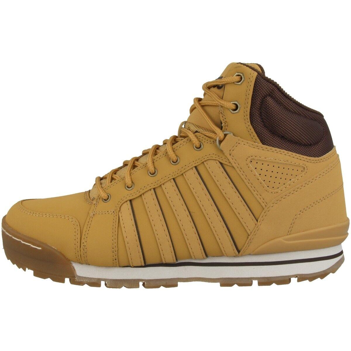 K-Swiss Norfolk High Sc Scarpe Stivali Uomo High Norfolk Top Sneaker Ambra Oro 05677-721 3425db