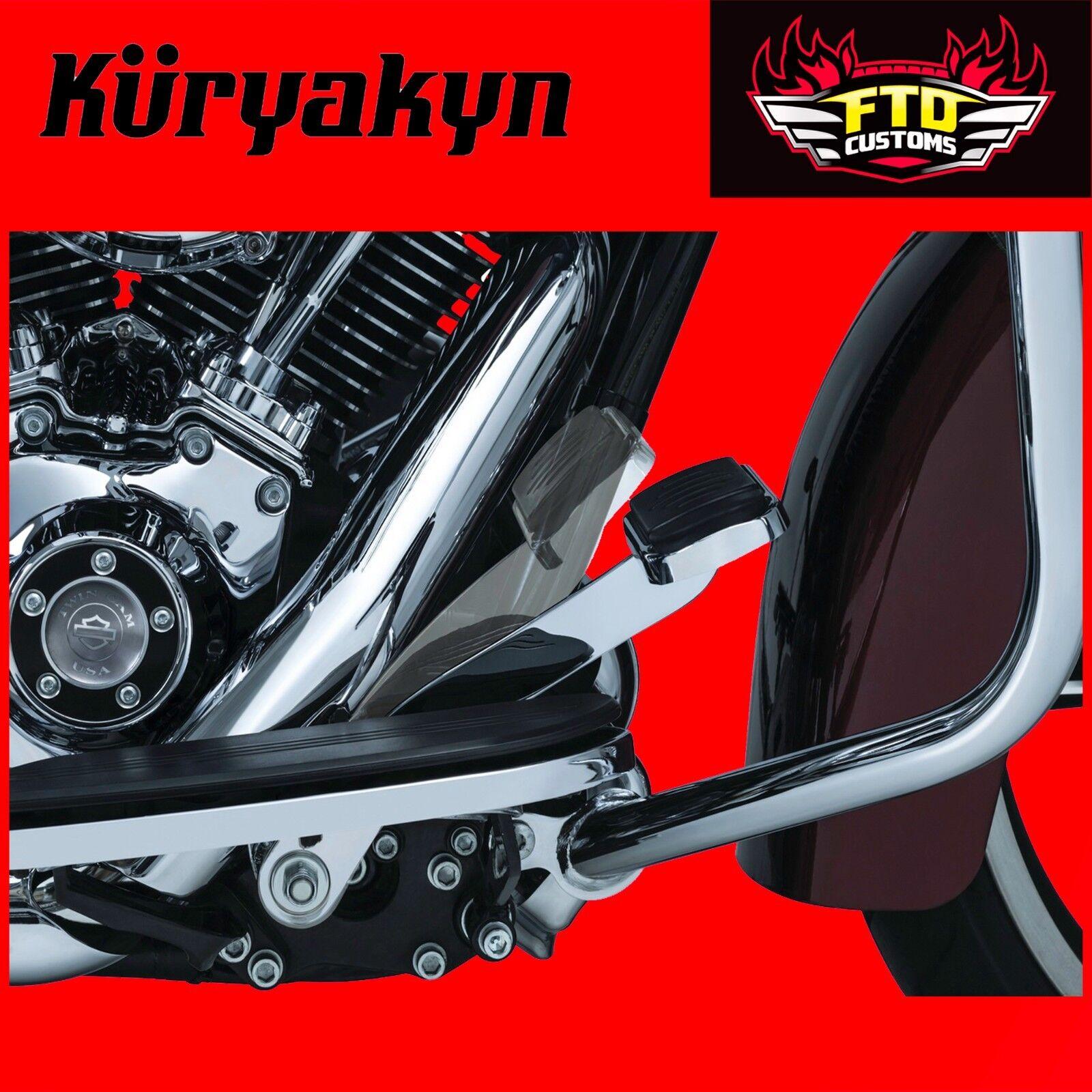 Fitment for Kuryakyn Chrome Extended Brake Pedal 9670