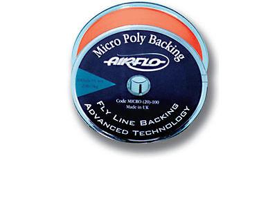 Airflo NEW Micro Poly Fly Fishing Line Backing Fluoro Orange 20lb