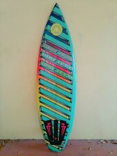 """Vintage Surfboard 1980's 5'11"""" Fox/ProTech Greg Loher Airbrushed Colorful Fin"""