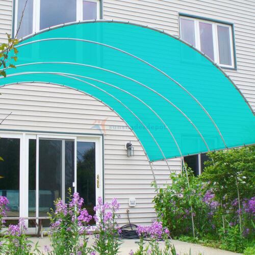 Customized 10Solid Straight Edge Hemmed Sun Shade Sail Canopy Shade Cloth 240GSM