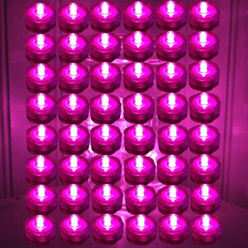 HOT PINK 48 Qty Submersible LED Tea Light WEDDING Centerpiece Decoration