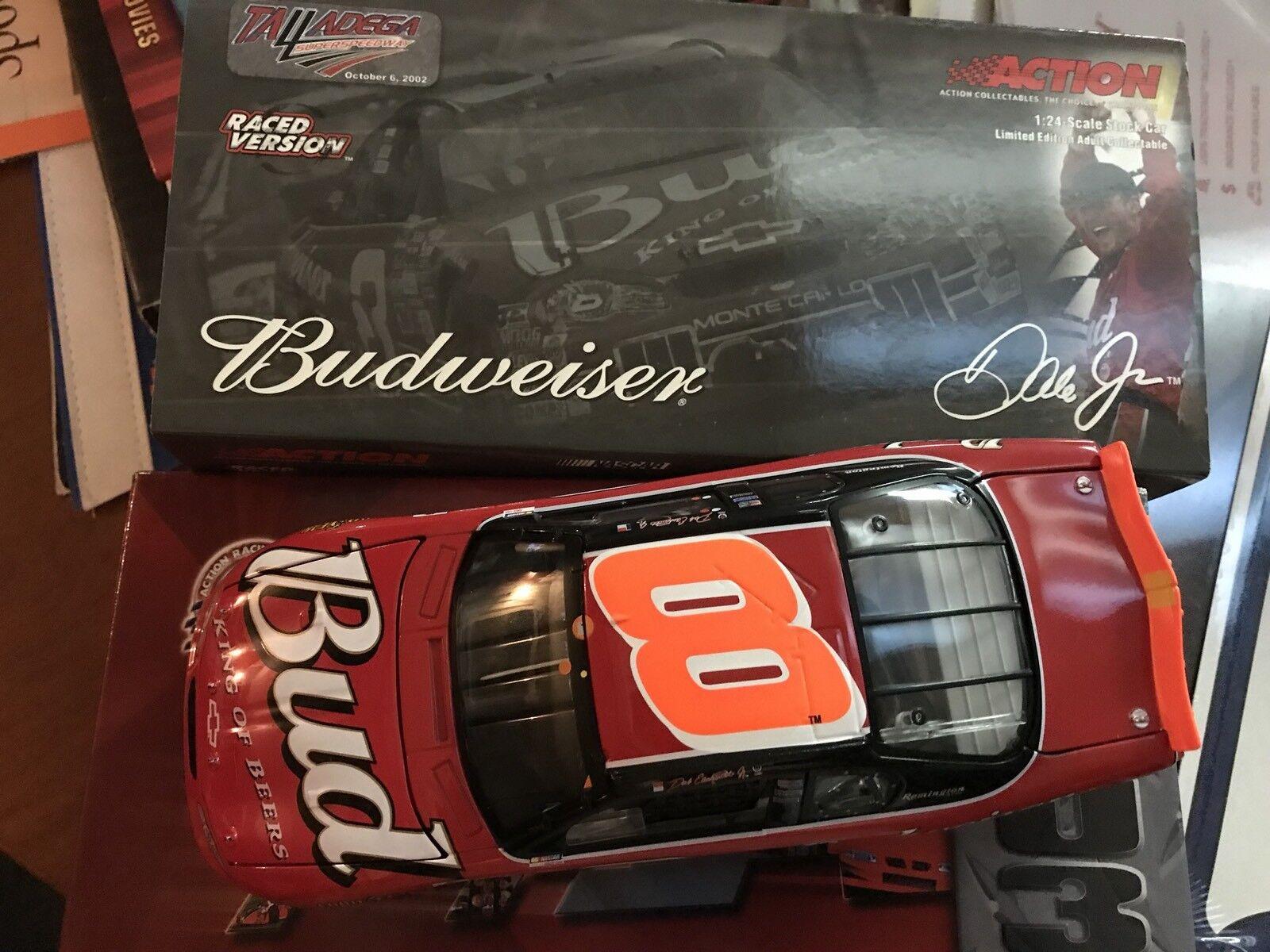 2002 DALE EARNHARDT EARNHARDT EARNHARDT JR 1 24 Budweiser sizeDEGA WIN 3RD Win Rare orange 018742