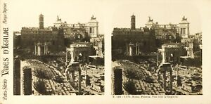 Italia Roma Monte Palatin Vista Capitol Foto Stereo Vintage Analogica PL60L11