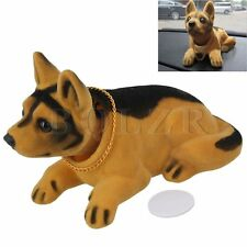 Yellow Shaking Head Nodding Shepherd Dog Decoration For Car Kids Children Gifts
