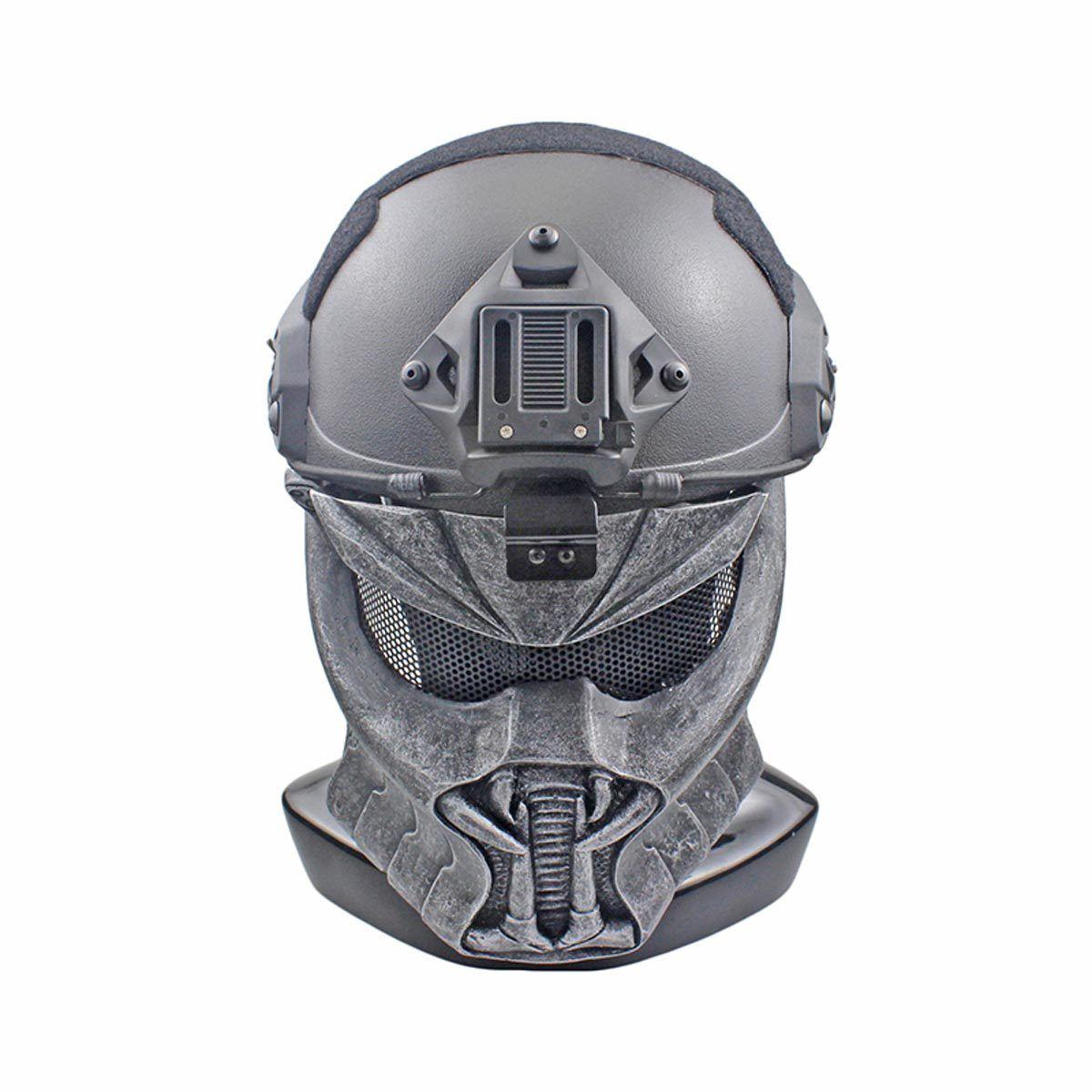 NEW Wire Mesh Glass Fiber Resin Airsoft CS Half Face Mask For Helmet M161