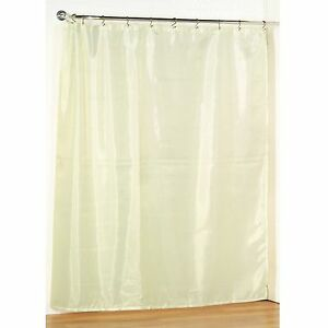 Image Is Loading Ivory Fabric Shower Curtain Liner Water Repellent Weight