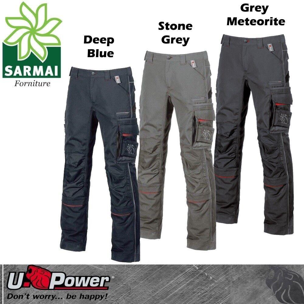 Upower DRIFT pantalone da lavoro multi tasca laterale toppe di rinforzo TG 44-60
