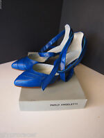 Blue Paolo Angeletti Wrap Around Ankel Straps High Heel Shoes