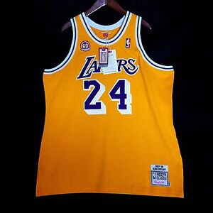 check out ade95 f7ed9 100% Authentic Kobe Bryant Mitchell Ness 60th Lakers Jersey ...