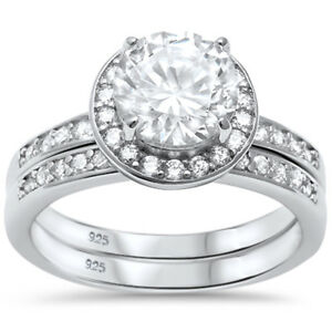 2-25ct-Halo-Style-CZ-Engagement-Set-925-Sterling-Silver-Ring-Sizes-5-10
