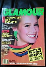 VINTAGE Glamour Magazine May 1988 Estelle lefebure cover