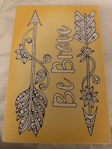 Wooden Postcard Be Brave Suitable For Coloring