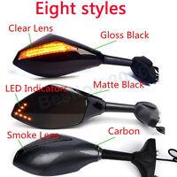 Motorcycle Black Led Turn Signals Mirrors For Kawasaki Ninja 650r 500r 250r 636