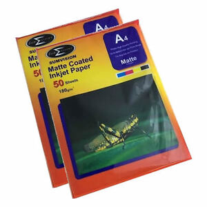 100-Sheets-Sumvision-A4-180GSM-Matte-Coated-Inkjet-Photo-Paper-A-Grade