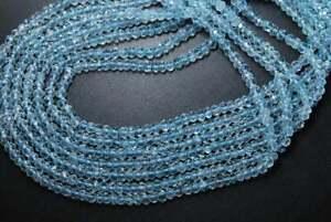 Natural-Aquamarine-Faceted-Rondelle-Beads-3-4mm-Blue-Aquamarine-Gemstone-13-5-034