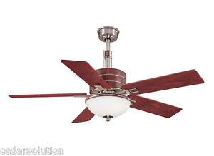 Hampton Bay Carlsbad 52 In Brushed Nickel Ceiling Fan
