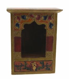 Tempio Tibetano Altare Buddista Cuccia E Cassetto Per Bodhisattva 21.5x17cm 1500