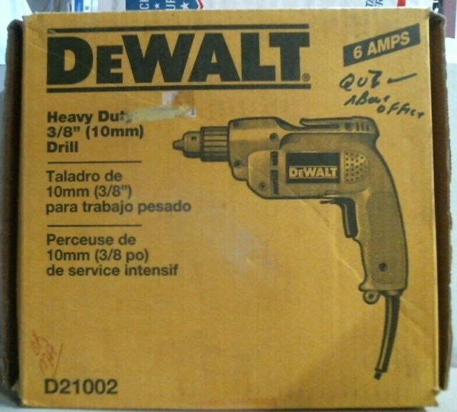 """3//8/"""" Chuck Clutch Drill Driver Power Tools Corded Compact Heavy Duty Max Torque"""