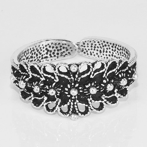 sr350 Solid .925 Sterling Oxidized Silver Ring