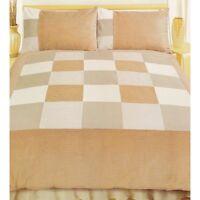 SINGLE BED DUVET COVER SET CORD BROWN LATTE BEIGE CREAM LINEN CORDUROY BEDDING