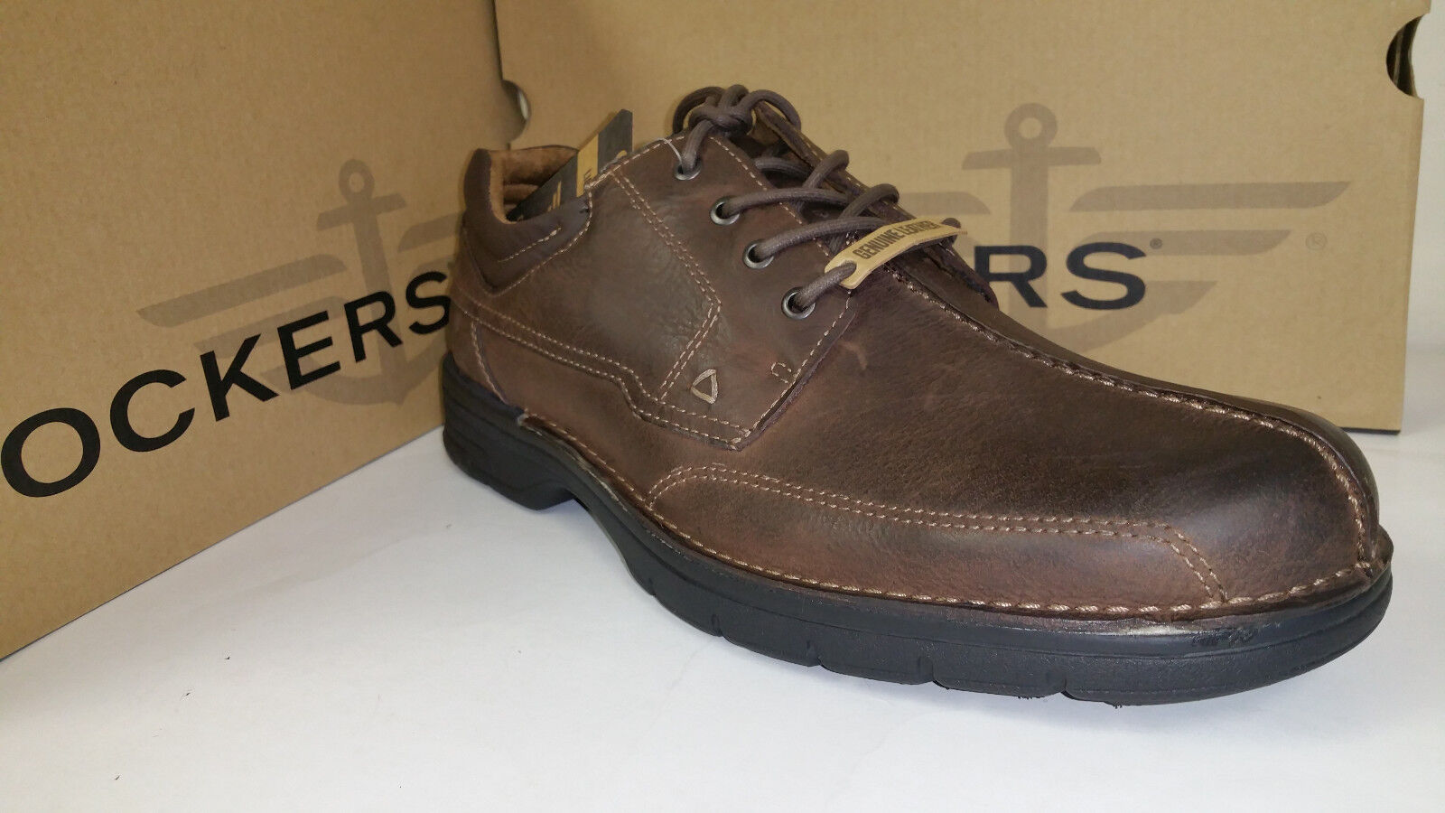 Dockers Steele Light Weight Chocolate Pelle Casual Shoes size 7-12