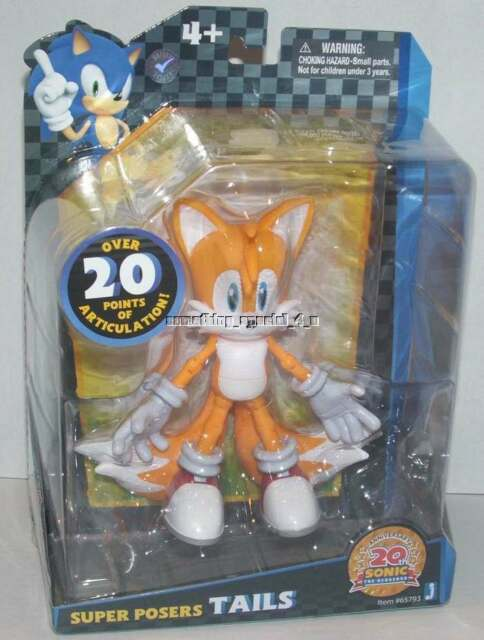Sonic The Hedgehog 20th Anniversary 6 Inches Super Poser Figures Sega Mascot For Sale Online Ebay