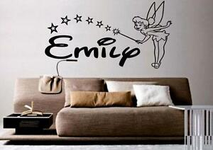 v19-BIG-Tinkerbell-personaized-name-wall-art-Sticker-6-sizes-many-colours