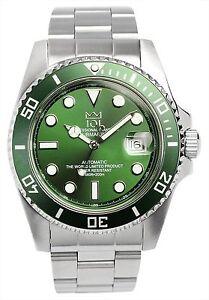 Details About Hyakuichi 101 Men S Automatic 20bar Diver S Citizen Movement Green Watch