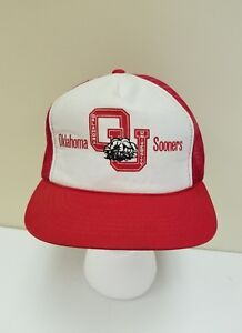 067ad40d674d3 Image is loading Vintage-OU-Oklahoma-Sooners-Hat-Cap-Snapback-Red-
